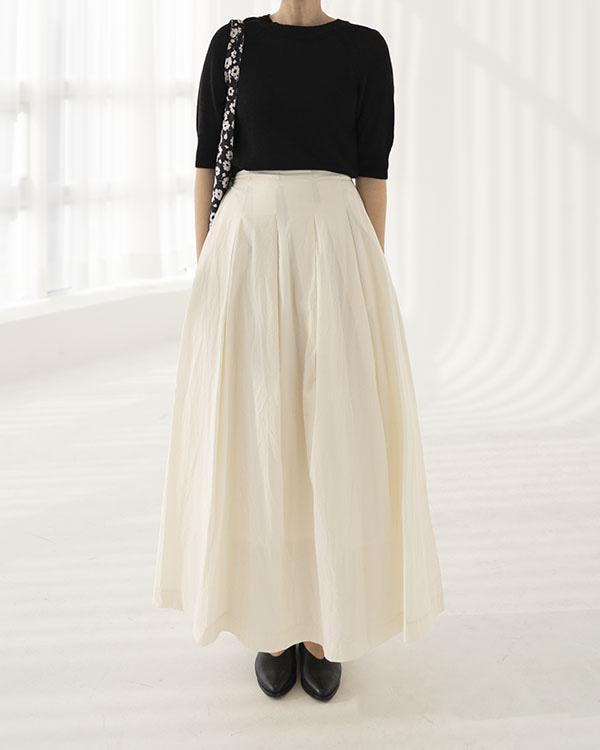 [nature] stitch pleats skirt (단독 주문시 선발송)