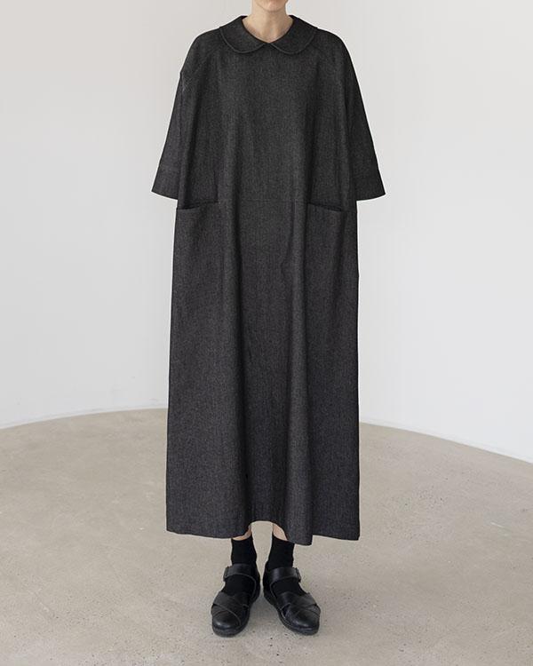 flat collar denim dress (reorder open, 단독 주문 시 선발송)