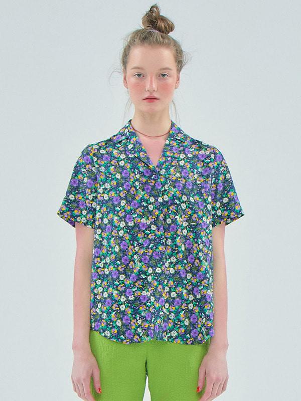 [공효진 착용] Floral Shirts / Navy