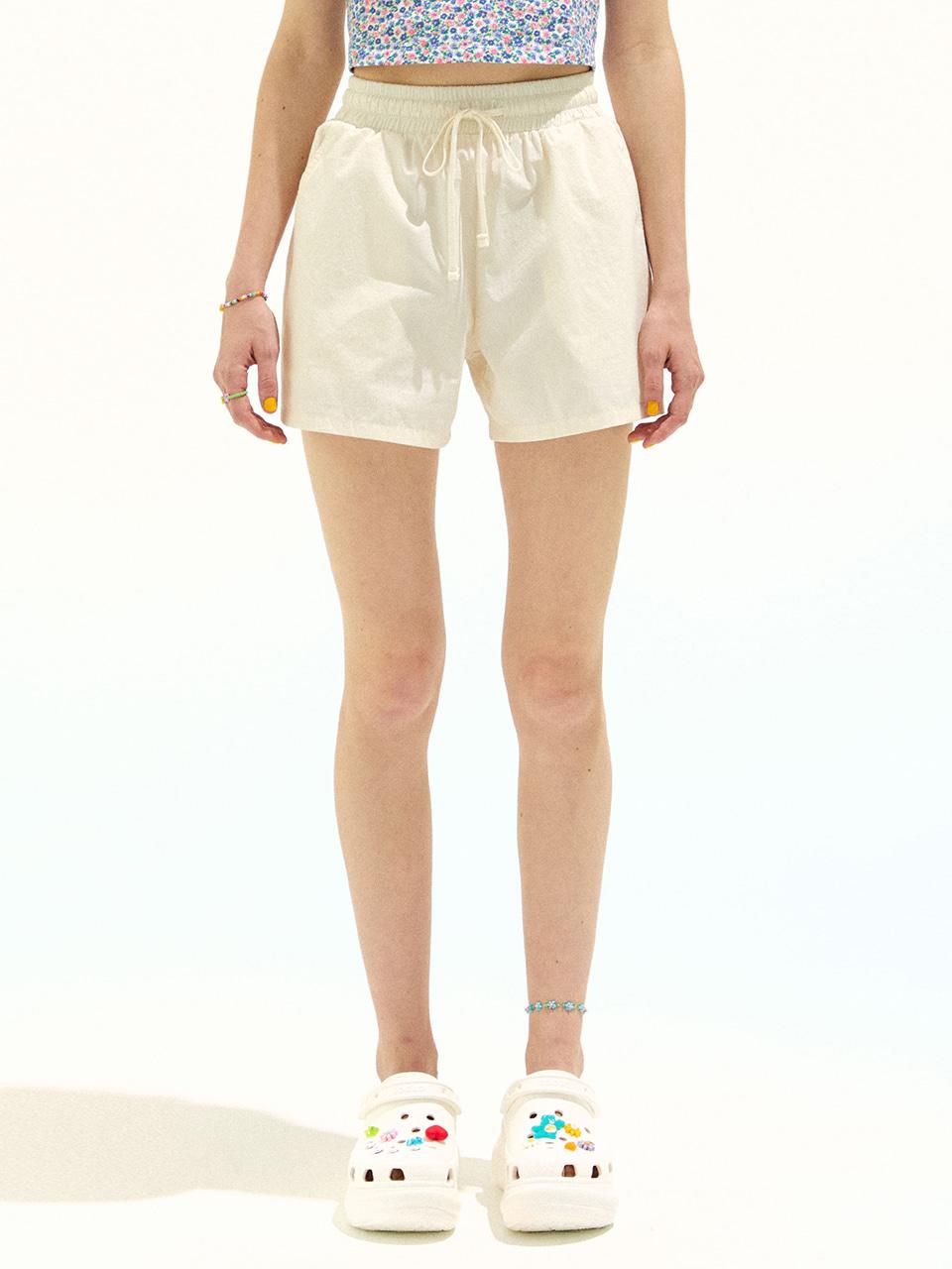 Cotton Banding Shorts_Ivory