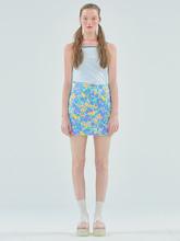 Flower mini skirt_Purple