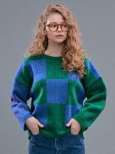 Check Jacquard Sweater_Green