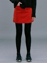 [김나영 착용] Corduroy A-line Mini Skirt / Red