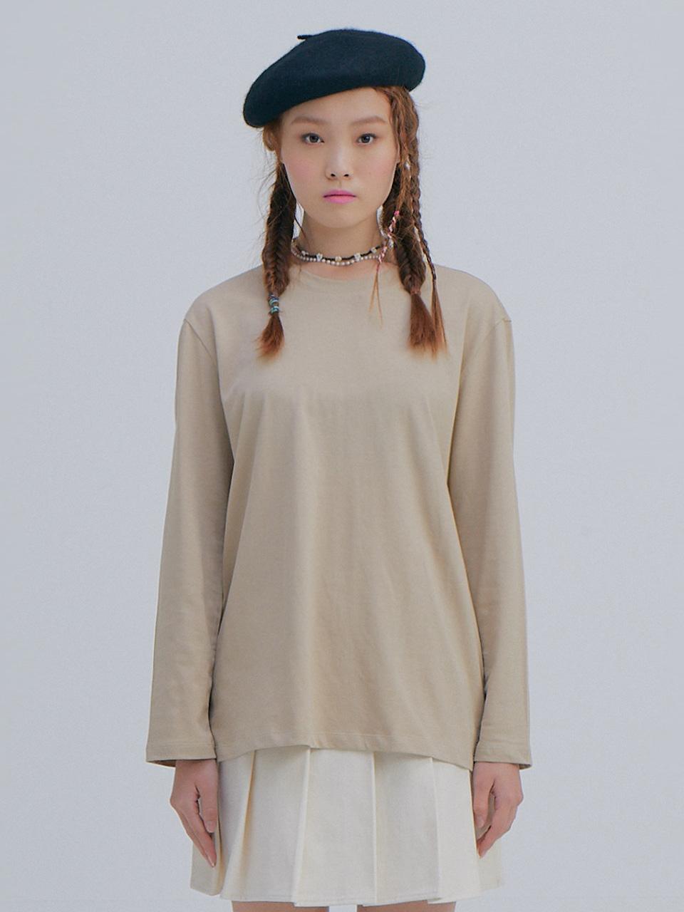 Basic Long Sleeve T_Beige