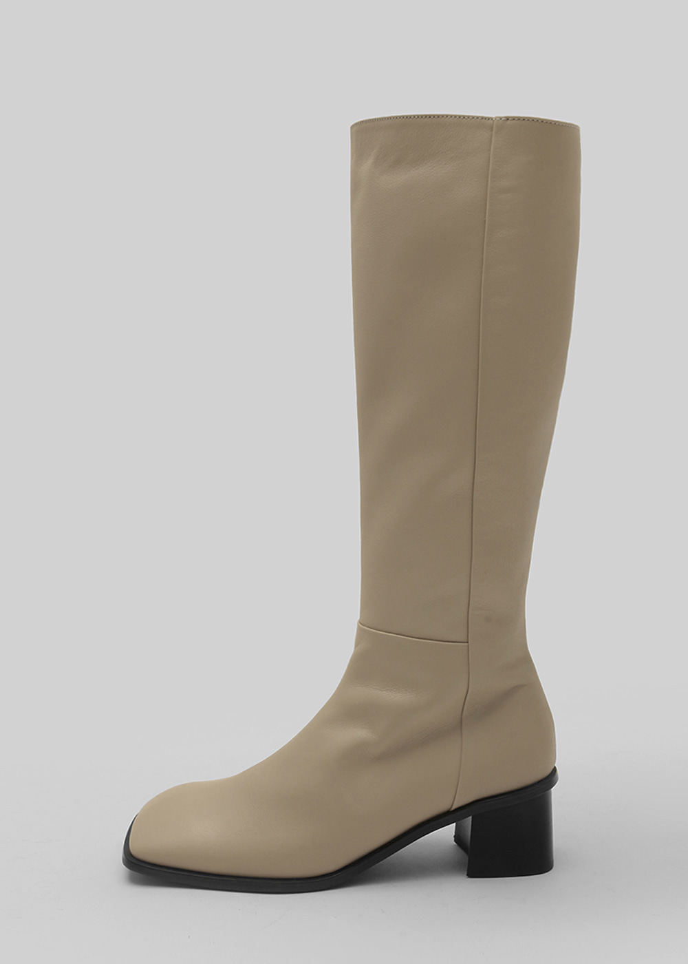 WIDE SQUARE LONG BOOTS [C1F03 BE]