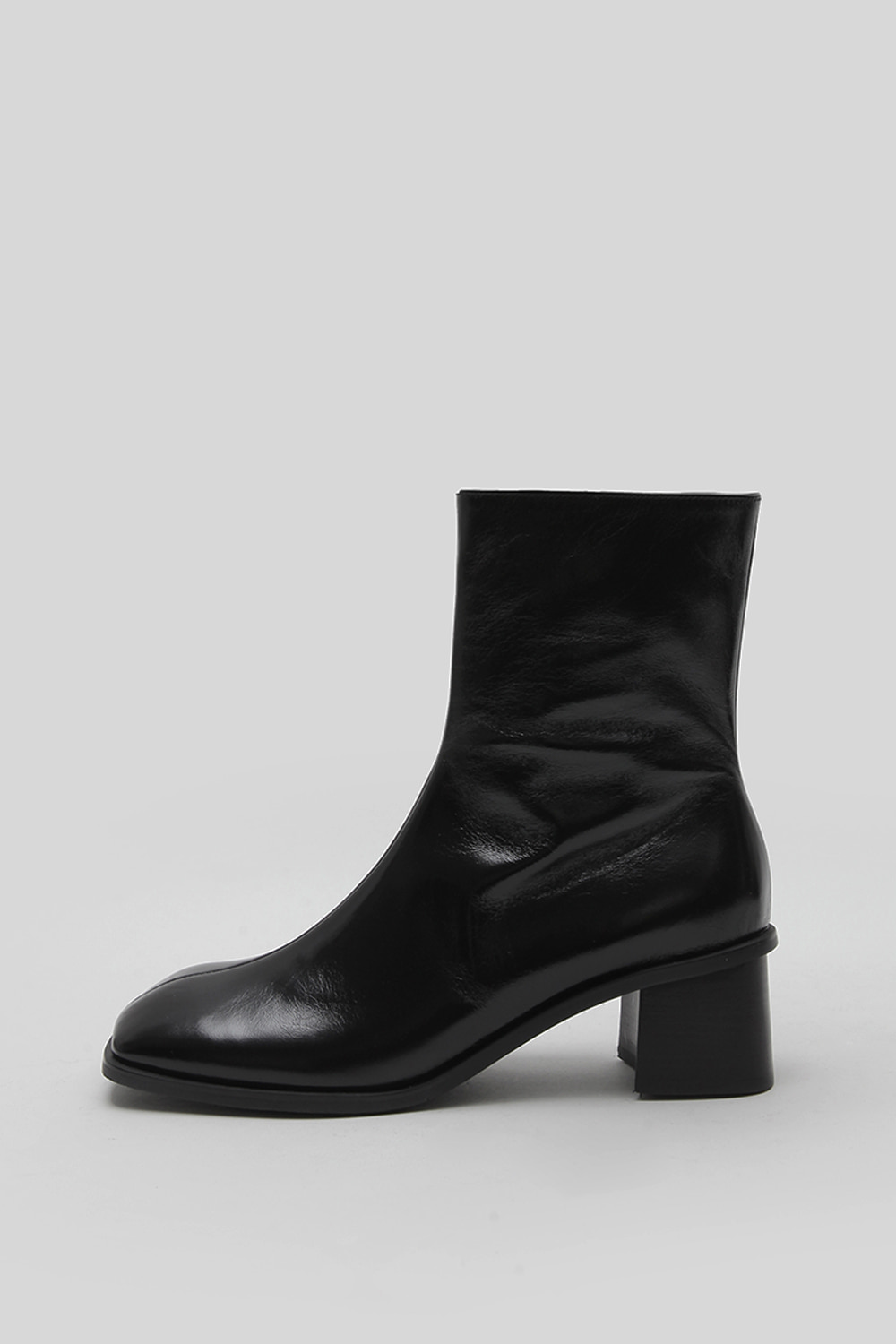WRINKLY SQUARE BOOTS [C1F02 BK]