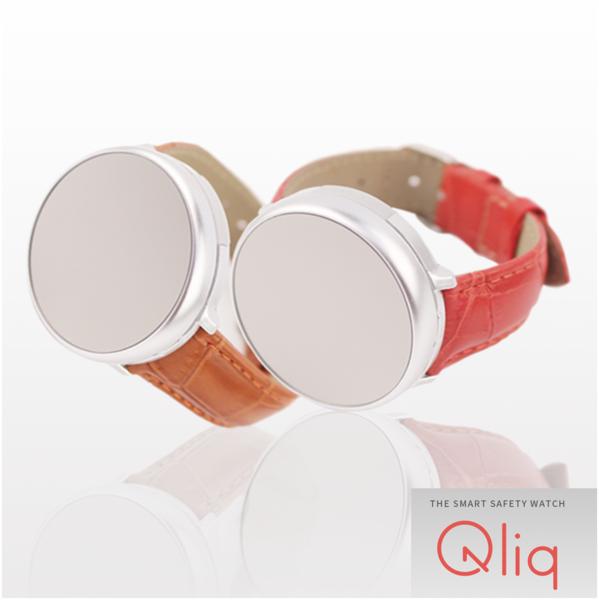 Qliq 스마트워치 교통시계 Mirror Stitch leather