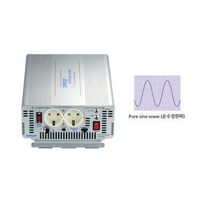 국산 순수정현파 싸인웨이브 인버터 (Pure Sine Wave) DK2410 DC 24V to AC 220V 최대 1000W {밧데리 직접 연결방식}