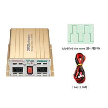 국산 디지털 인버터 DP524 최대500W DC24V to AC220V {밧데리 직접 연결방식}