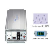 국산 순수정현파 인버터 싸인웨이브 인버터 (Pure Sine Wave) 태양광 인버터 DK4860 DC 48V to AC 220V 최대 6000W {밧데리 직접 연결방식}