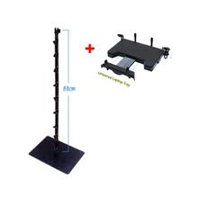 기어맞물림식 관절연결기둥 이동식거치대+노트북상판(14인치이하) 밑판+기둥+상판셋