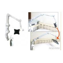 고급형 병원용 소형 모니터거치대IK-9300 (바이스 크램프이용 축고정, 힌지이용 신축적 높낮이 조정) + 75mm, 100mm VESA홀 규격 모니터 결합판 세트