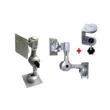 국산 고급형 LCD 모니터 거치대 IK-701 (1단관절 기어 맞물림방식 관절 연결 구조) / 크램프+1단관절+VESA 75mm 100mm 규격홀과 호환되는 모니터결합판 세트