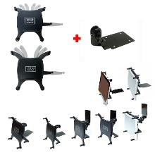 벽면 또는 틈새 삽입식 테이프 부착식 태블릿거치대 인데쉬거치대 + 9~10인치용 2가지 태블릿거치용 범용홀더셋
