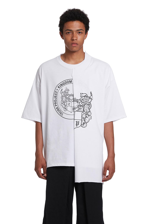 Half Layered Print T Shirts