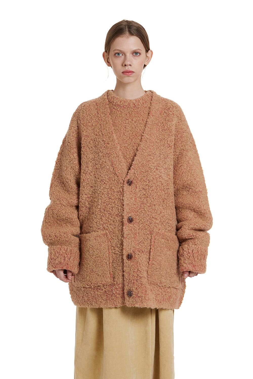 Two tone Boucle Cardigan Jacket