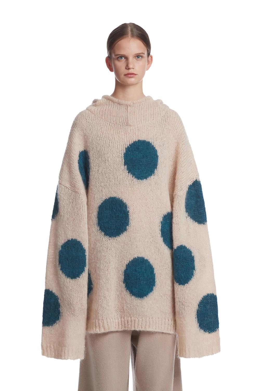 Alpaca Hoodie Knit Sweater