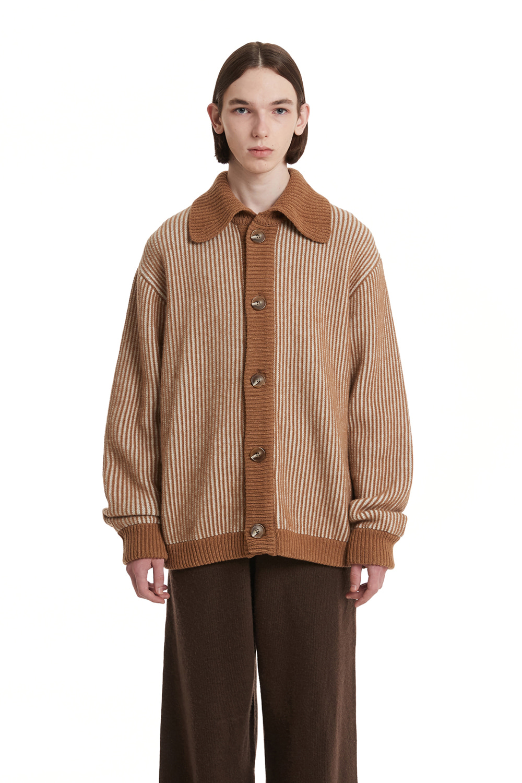 Stripe Collar Cardigan