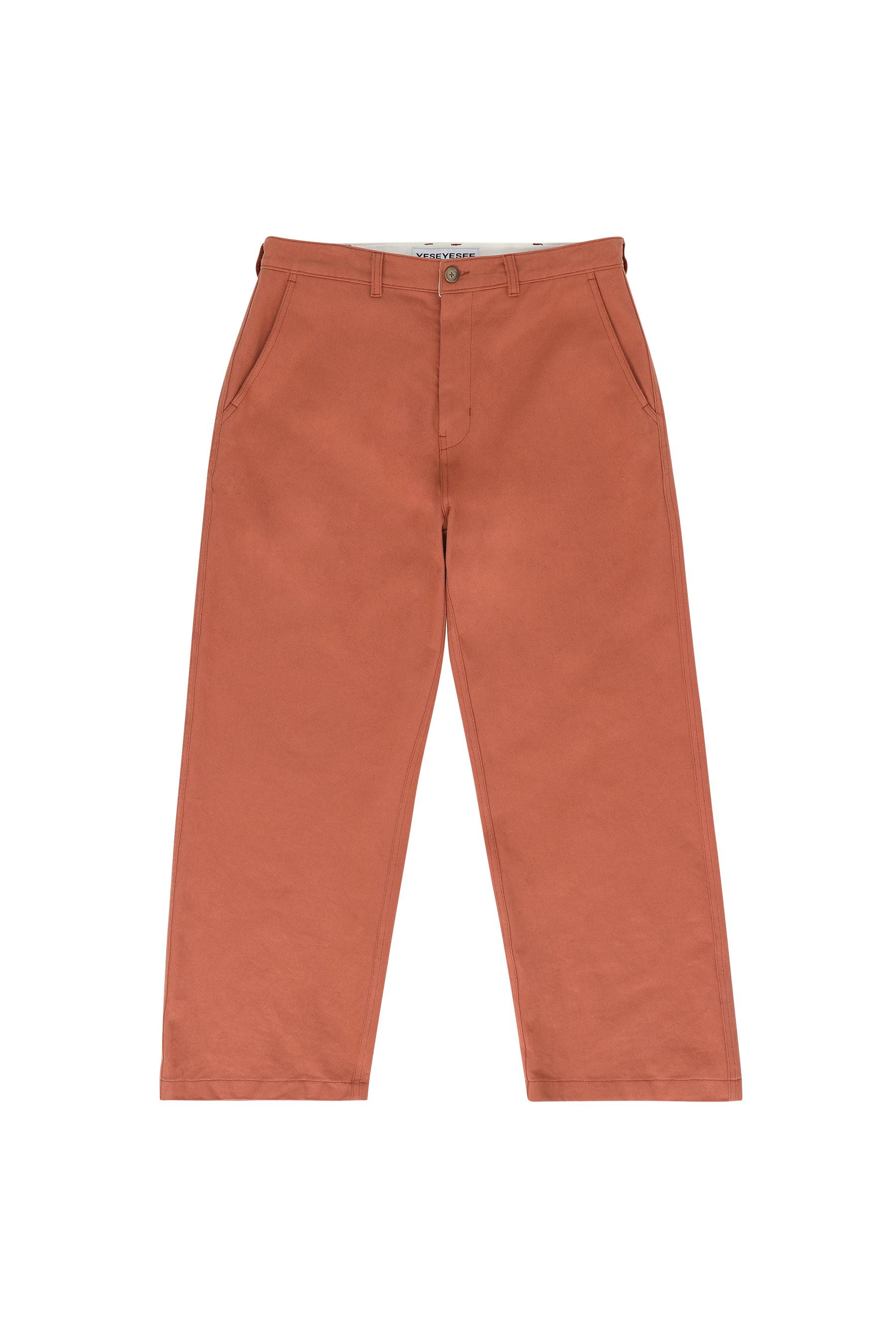 Cotton Twill Pants Rust