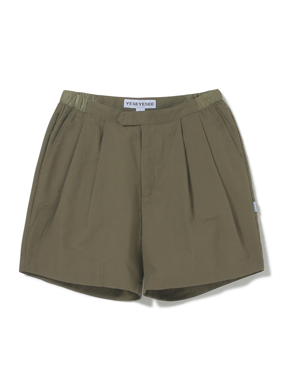 Seersucker Shorts Olive