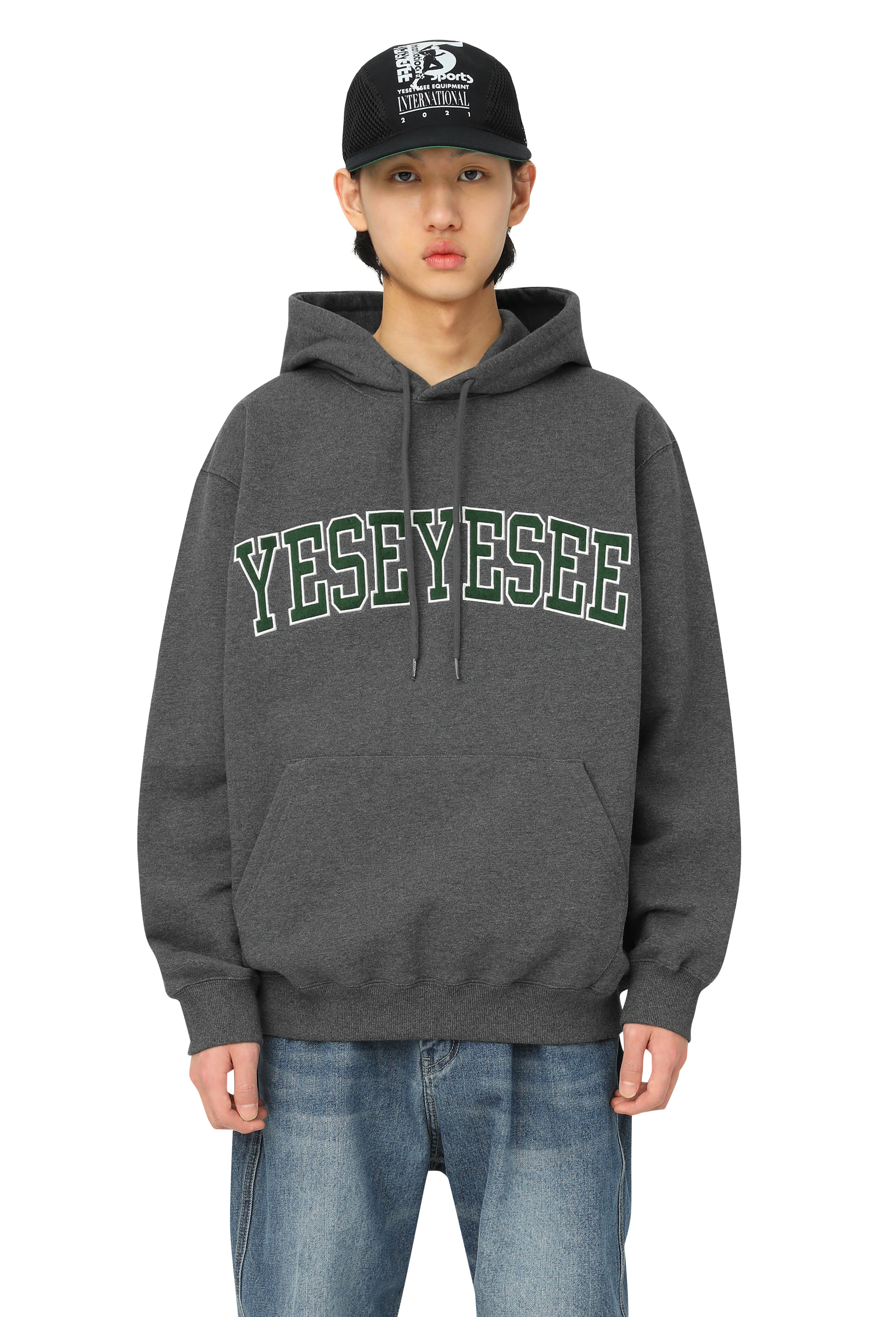Arch Logo Hoodie Charcoal