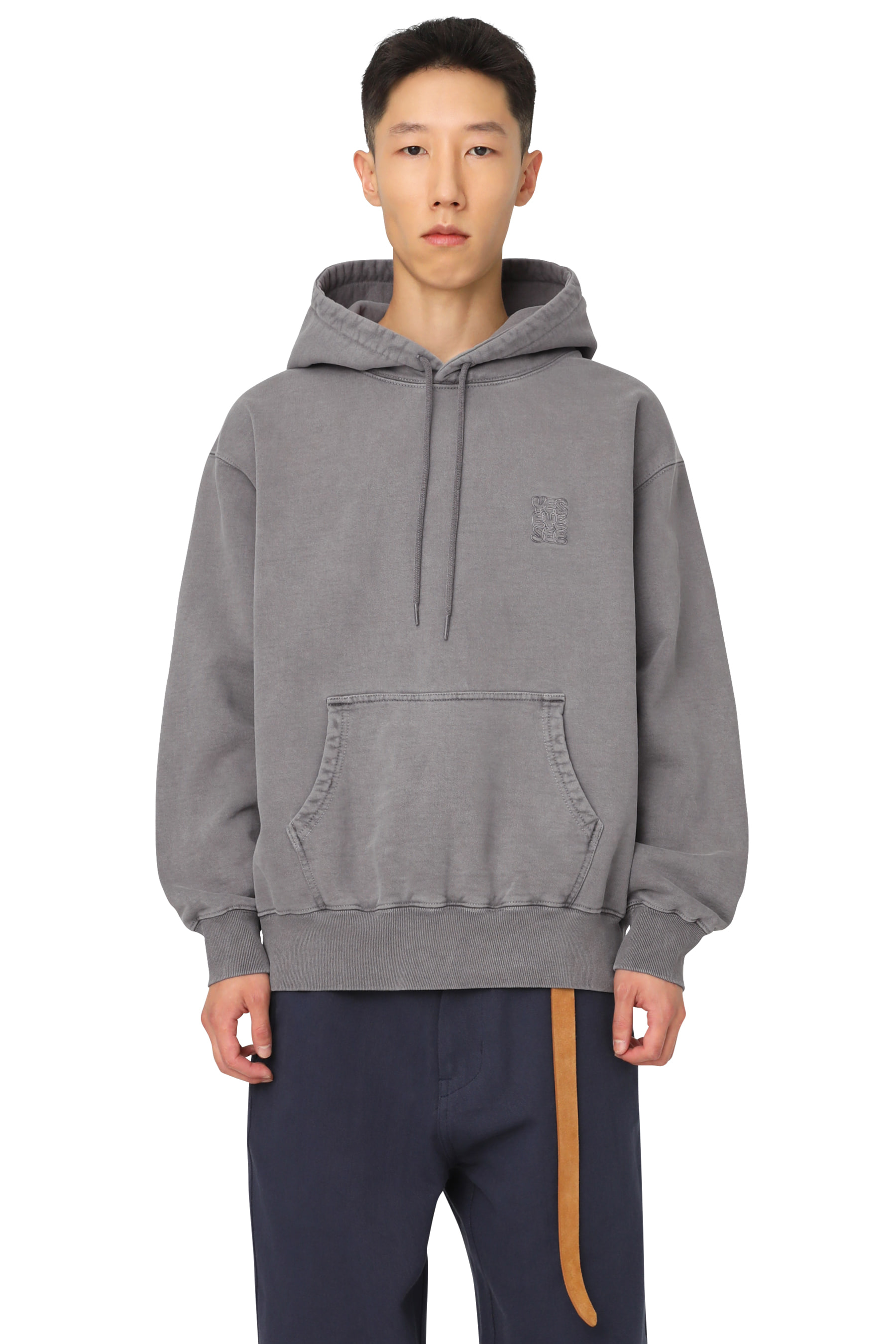 Y.E.S Pig Dyed Hoodie Charcoal