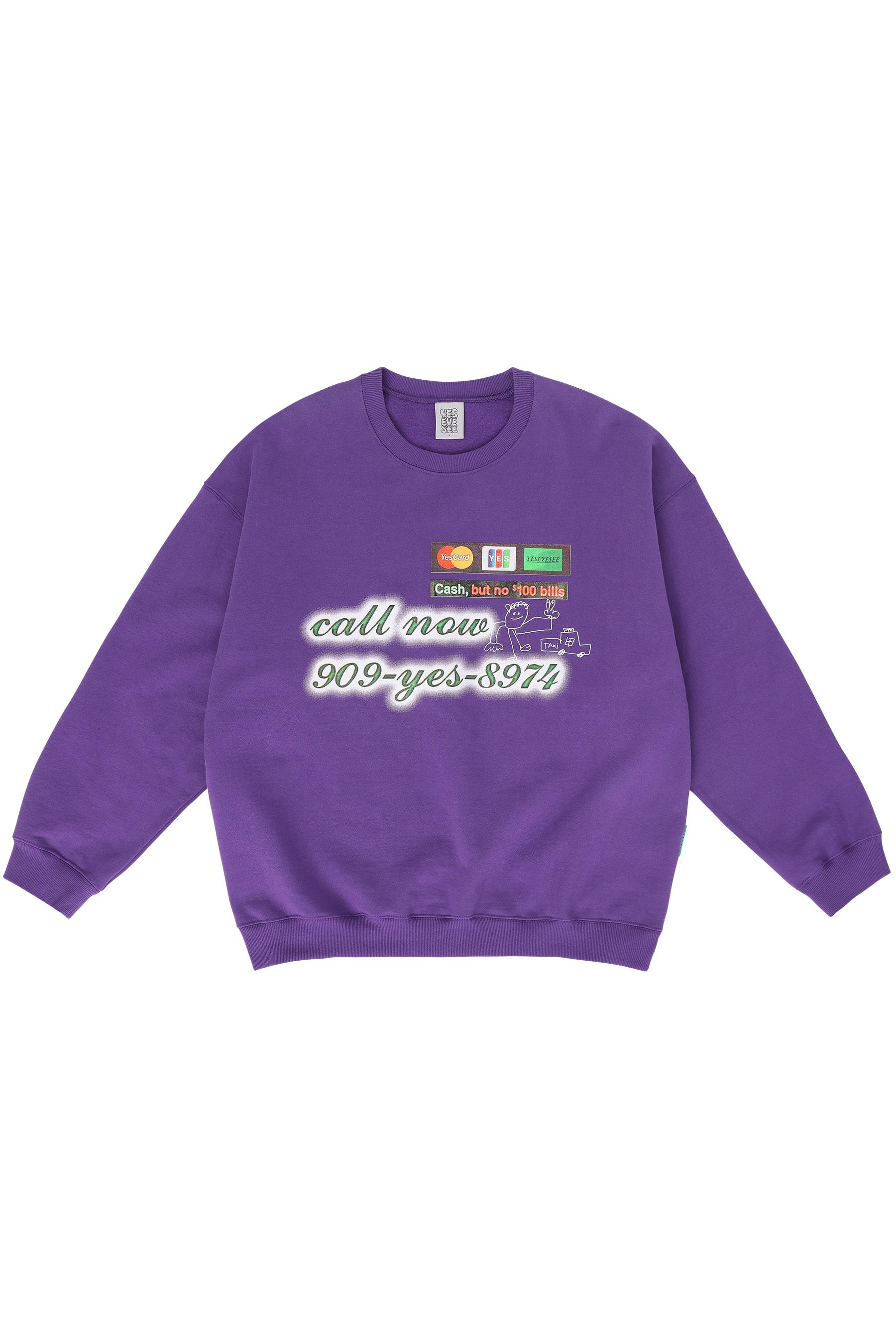 Credit Card Sweatshirts Purple