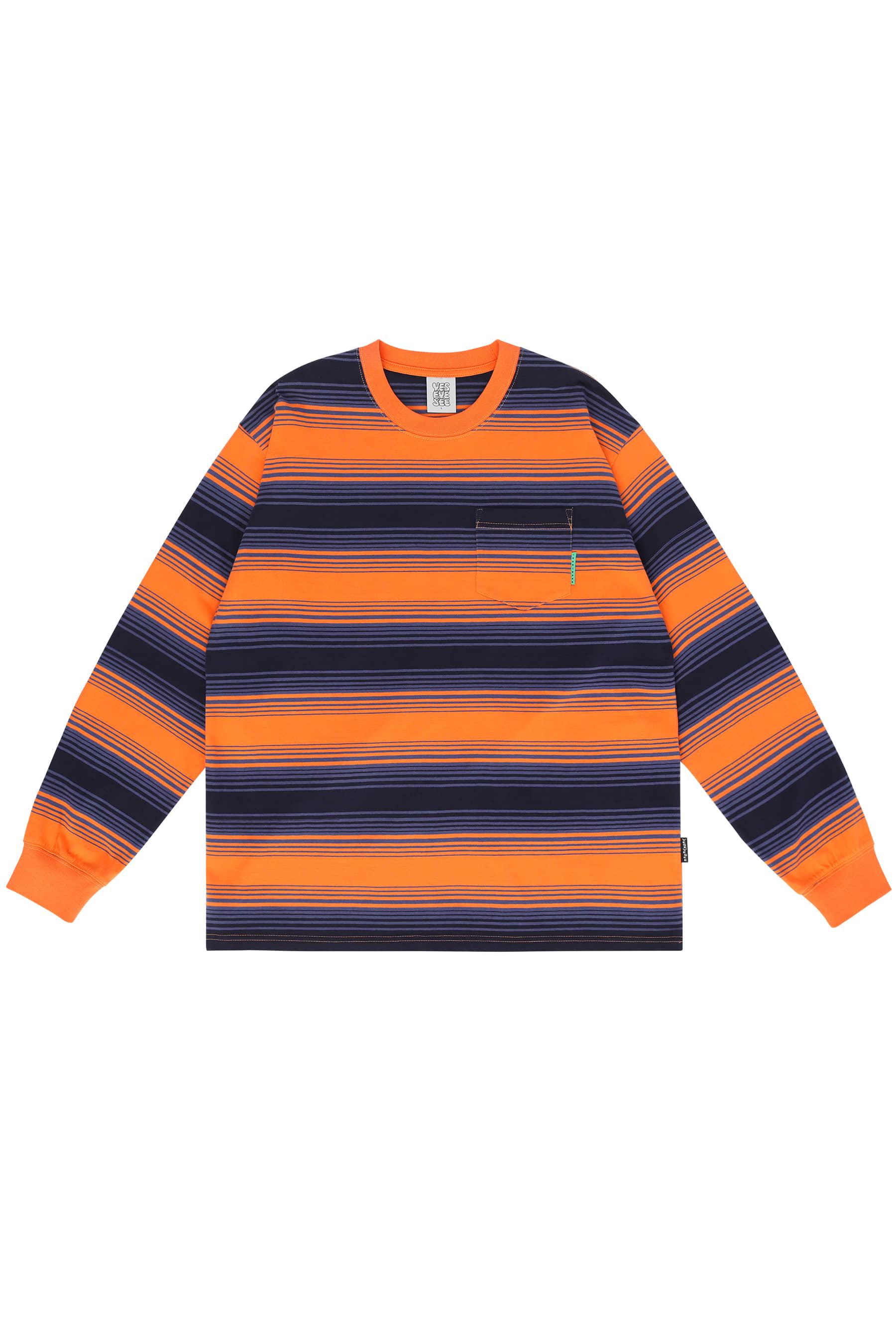 Y.E.S Stripe L/S Orange