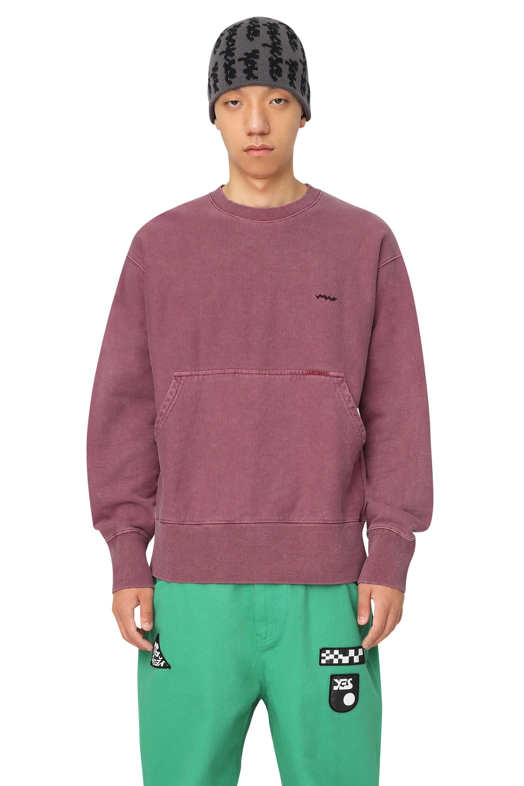 Y.E.S Pig Dyed Sweatshirts Burgundy