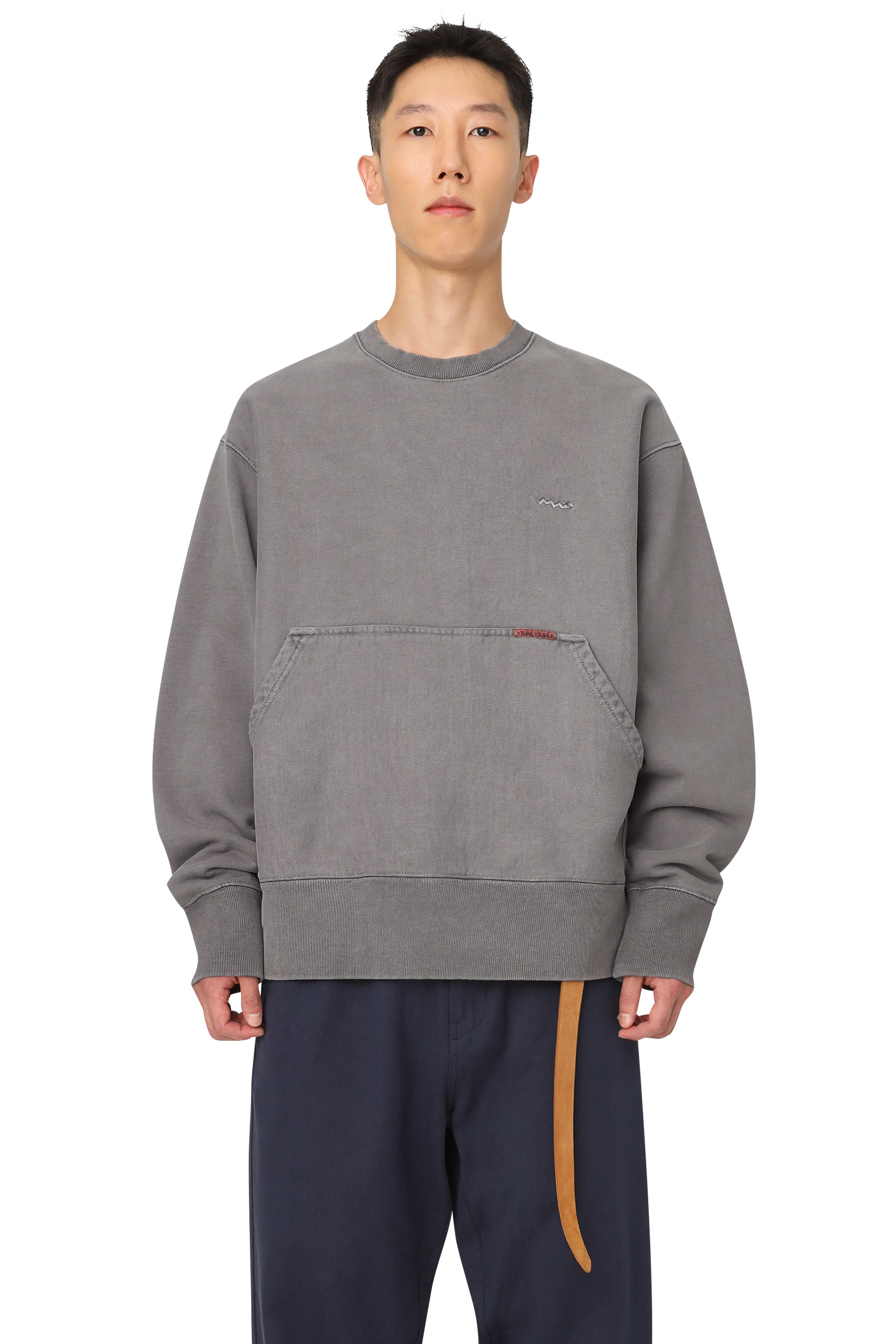 Y.E.S Pig Dyed Sweatshirts Charcoal