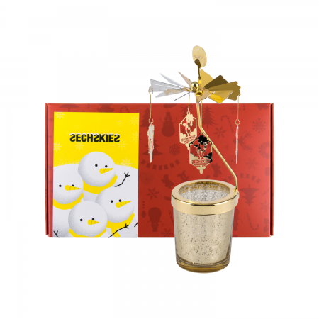 [YGBOX7] SECHSKIES CHRISTMAS CANDLE HOLDER