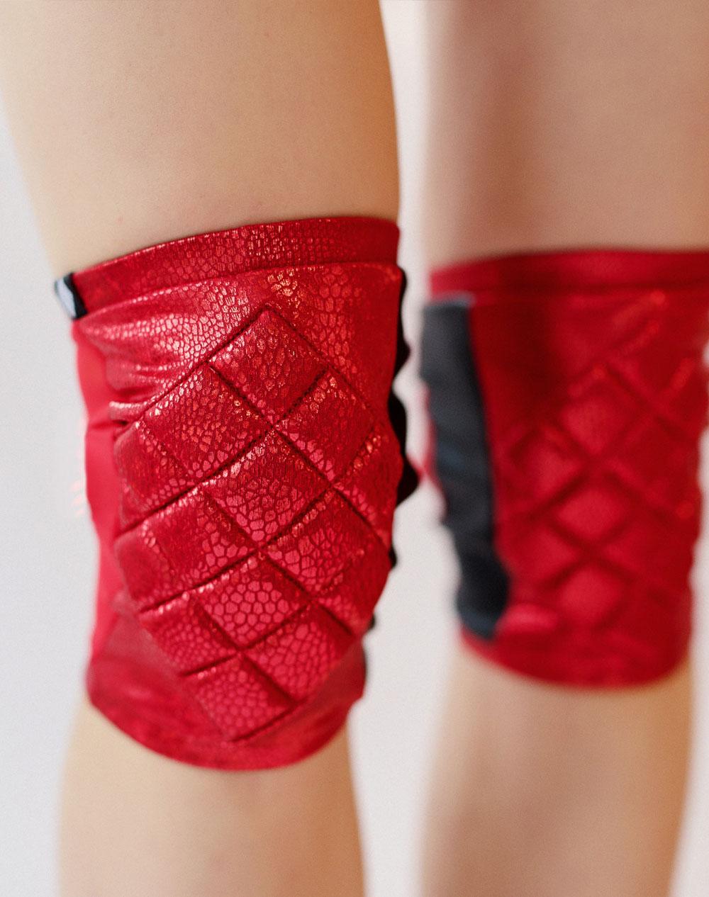 Knee Pads - Shiny Red