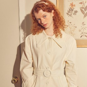 Ring Buckle Trench Coat_ Ivory