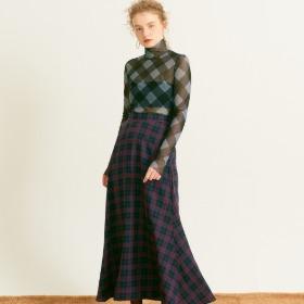Maxi Flare Skirt_ Navy