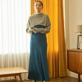 Mermaid Slip Dress_ Blue