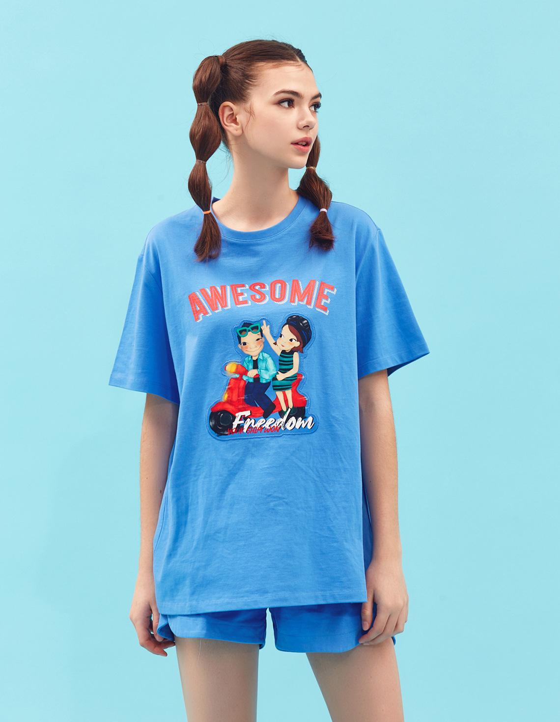 [21S/S NEW] Speeding T-shirts Blue