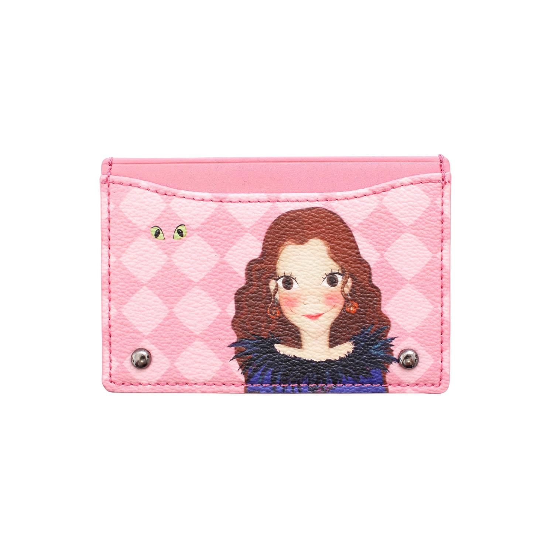 Argyle pattern simple card wallet F