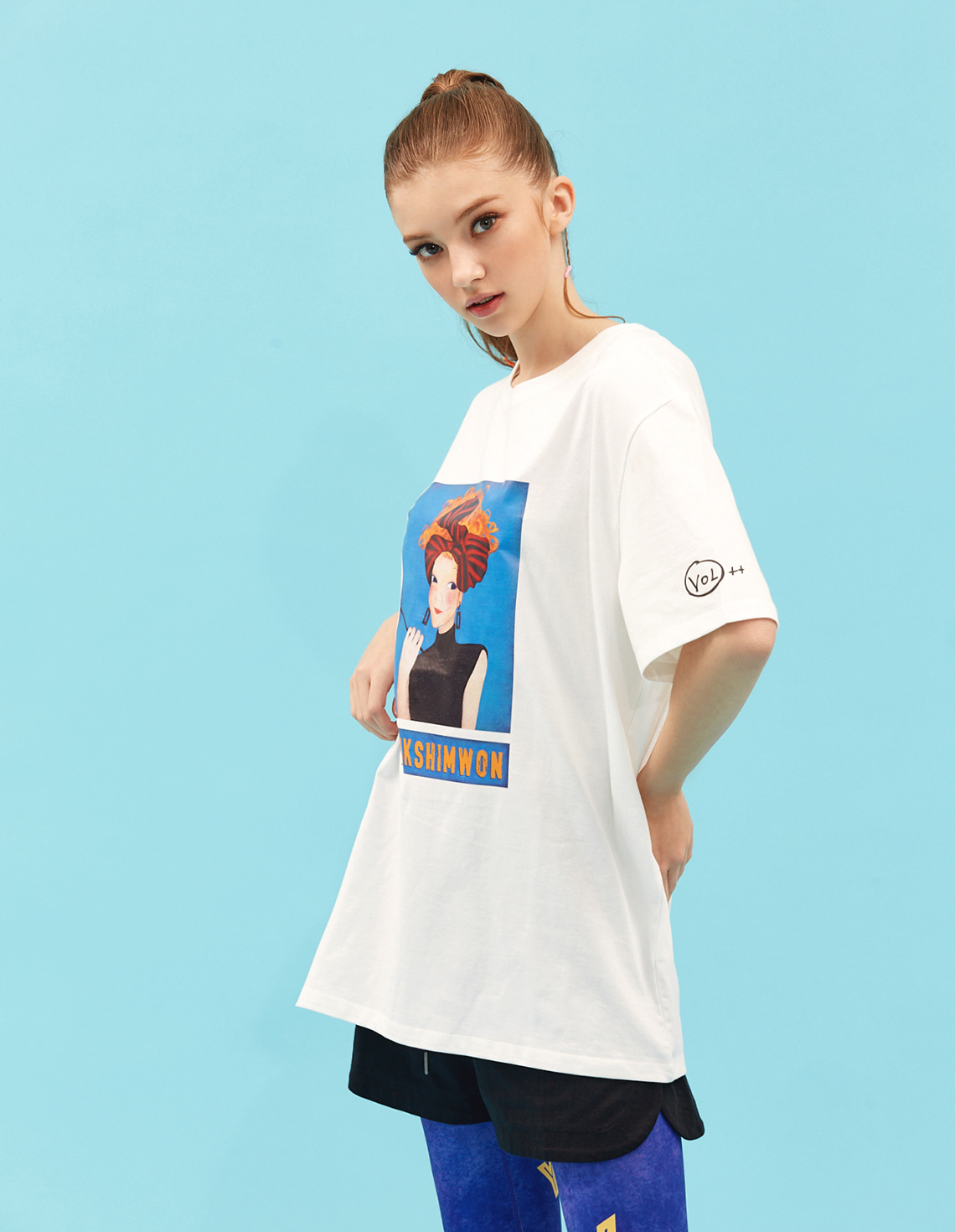 [21S/S NEW] Contrast T-shirts White Sannah