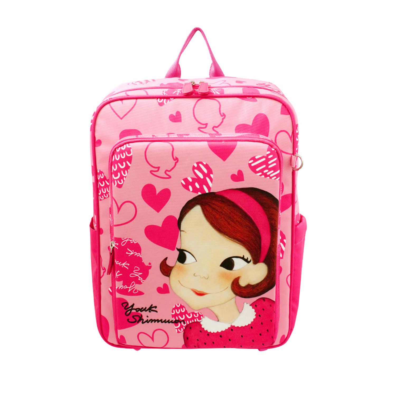 Kids Heart book bag pink ria