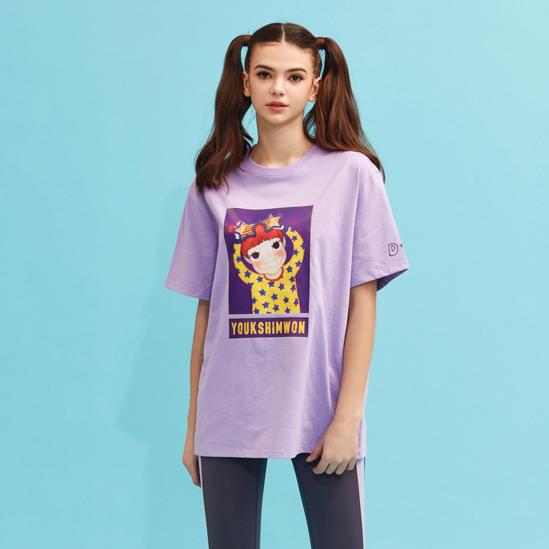 [21S/S NEW] Contrast T-shirts Purple Gaeddong