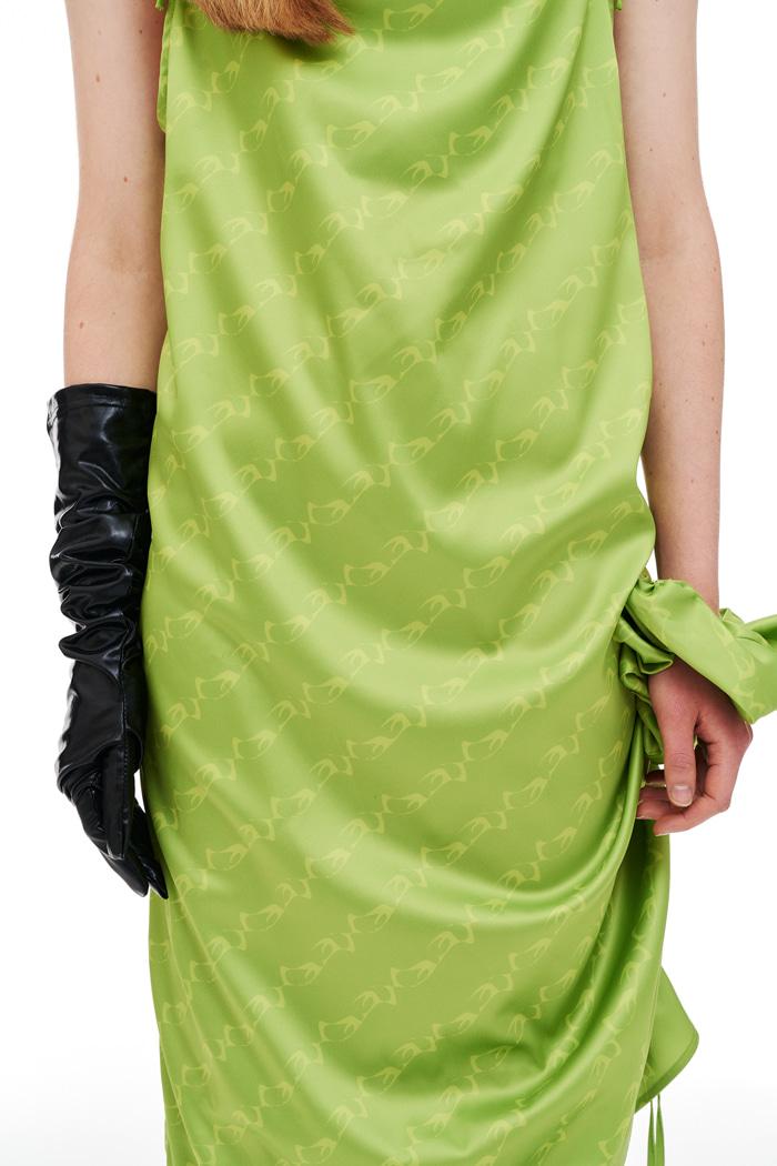[9/28일 출고 예정] Silk Pattern Scrunch Green
