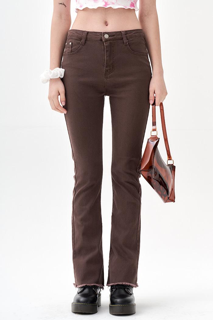 Semi Boots cut Jeans Brown