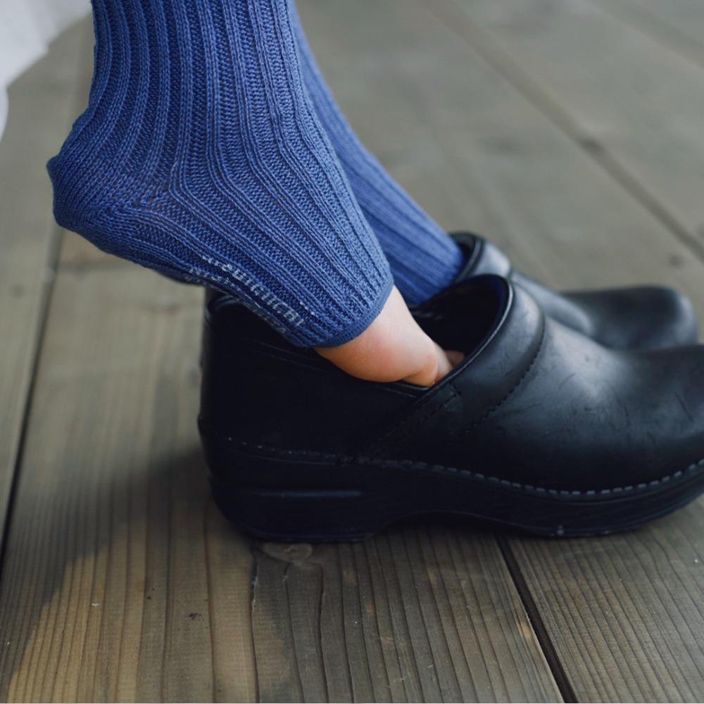 NK305 Linen Ribbed Sandal SocksNISHIGUCHI KUTSUSHITA