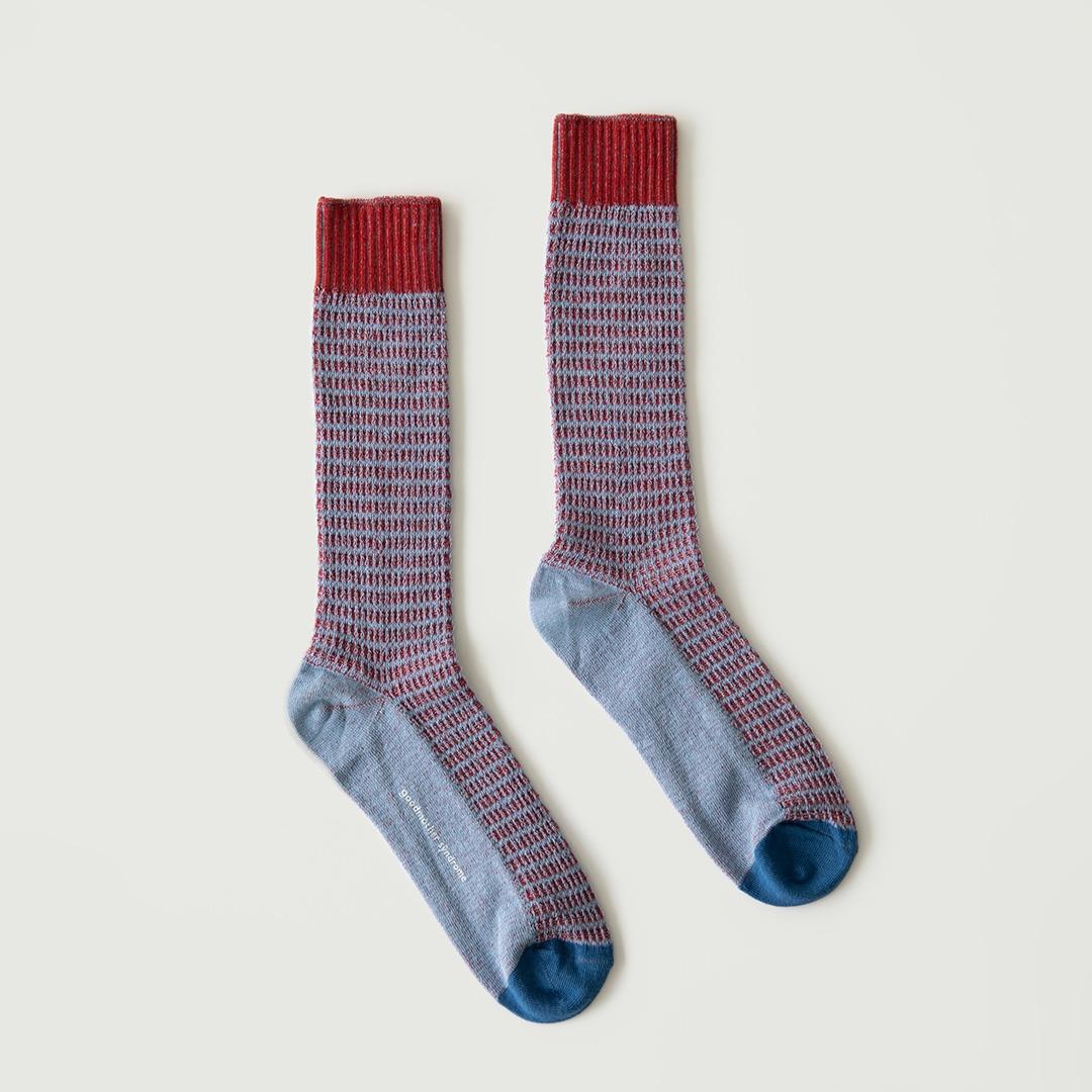 GMS182 Two-Tone Skashi Knitting : blue/wineGOODMOTHER SYNDROME