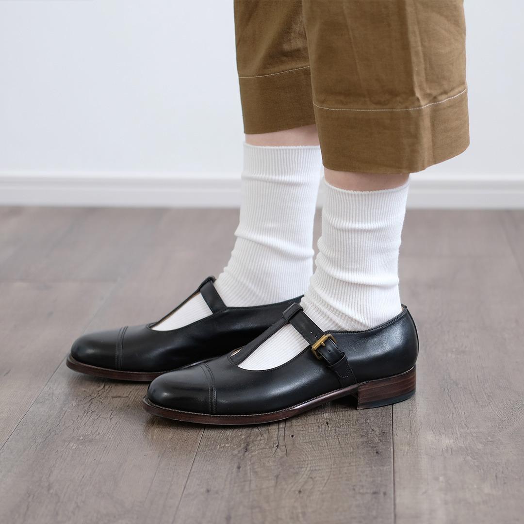 HCU091 simple thin rib socks (3colors)HACU